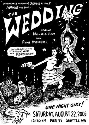 Or A Zombie Themed Wedding Invitation